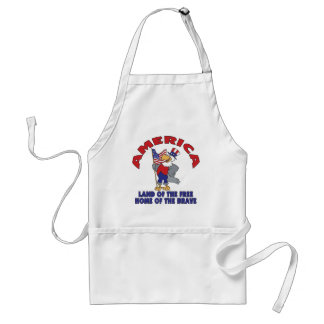 Land of the Free Adult Apron