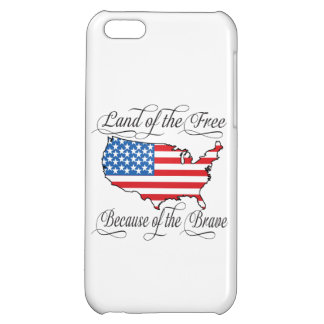 Land of the Free because of the Brave Patriotic US iPhone 5C Cases