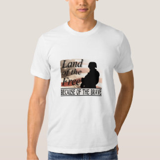 Land of the Free Because of the Brave Tees