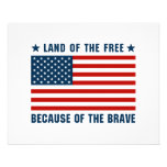 Land of the Free Flag Personalized Flyer