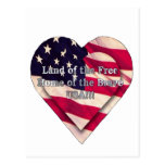 Land of the Free Home of the Brave Post Card
