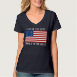 Land Of The Free Thanks To The Brave US Flag T-Shirt
