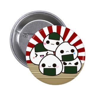 Land of the Rising Onigiri 6 Cm Round Badge
