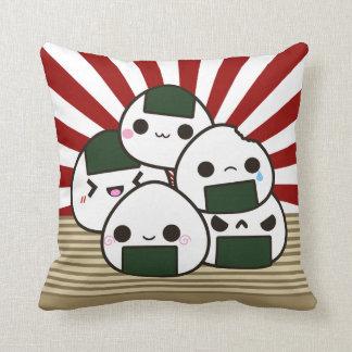 Land of the Rising Onigiri Throw Cushions