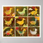 Land of Whimsical Birds Poster