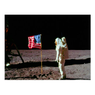 Land on moon and success postcards