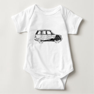 Land Range Rover Car Classic Vintage Hiking Duck Baby Bodysuit