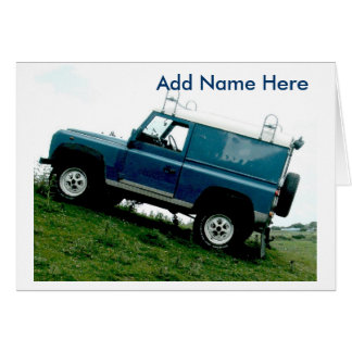 Land rover greeting card