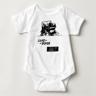 Land Rover Landy Car Classic Vintage Hiking Duck Baby Bodysuit