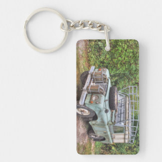 Land Rover Series III 109 Double-Sided Rectangular Acrylic Key Ring