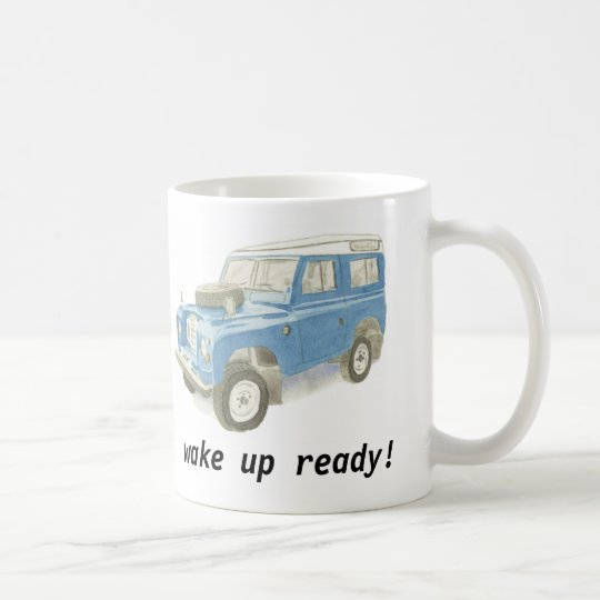 Land Rover wake up ready classic car mug