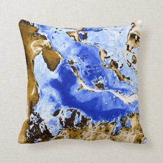 Land & Sea Abstract Painting Throw Pillow