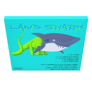 Land Shark Drink Recipe Gallery Wrap Canvas