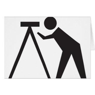 Land Surveyor at Work Greeting Card