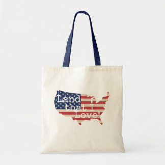 Land That I Love American Flag Tote