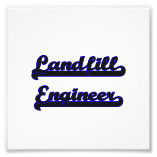 Landfill Engineer Classic Job Design Photographic Print