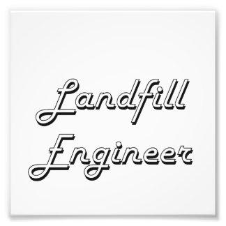 Landfill Engineer Classic Job Design Photo Art