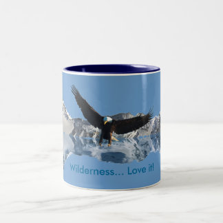 Landing Bald Eagle Wildlife-supporter Drinkware Two-Tone Mug