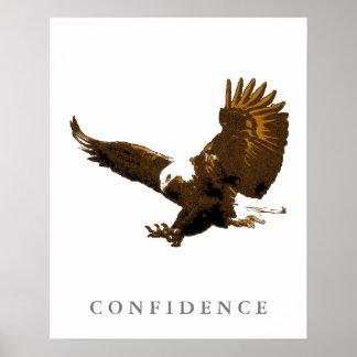Landing Eagle Motivational Confidence Art Posters