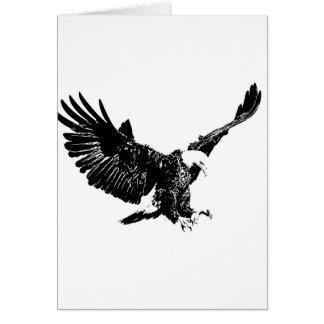 Landing Eagle Silhouette Greeting Card