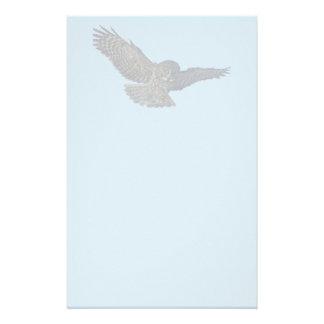 Landing Great Grey Owl Wildife Photo Art Custom Stationery