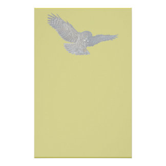 Landing Great Grey Owl Wildife Photo Art Personalised Stationery