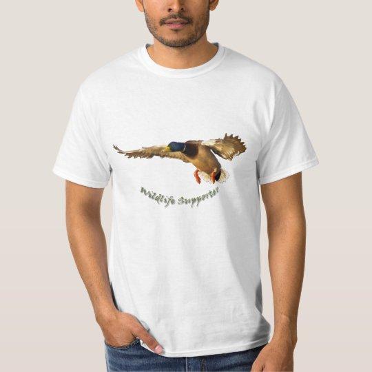 Landing Male Mallard Duck Wildlife T-Shirt