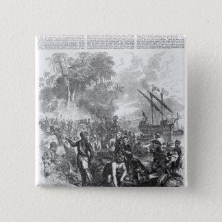 Landing of De Soto in Florida 15 Cm Square Badge