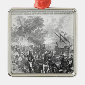 Landing of De Soto in Florida Christmas Ornament