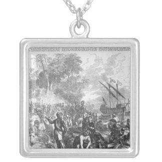 Landing of De Soto in Florida Silver Plated Necklace