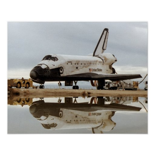 Landing of Space Shuttle Columbia (STS-5) Poster
