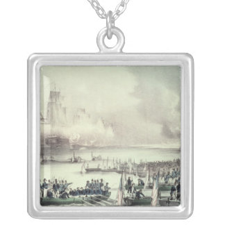 Landing of the American Force at Vera Cruz Silver Plated Necklace