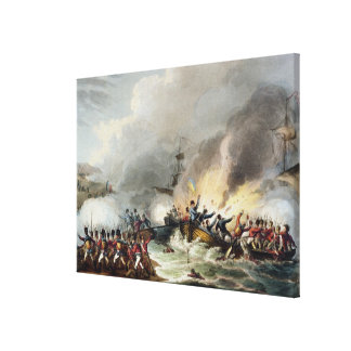 Landing of the British Troops in Egypt, March 1801 Canvas Print