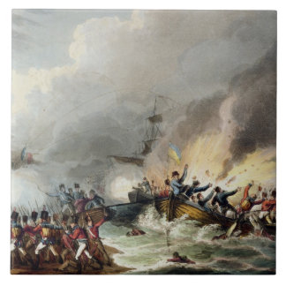Landing of the British Troops in Egypt, March 1801 Large Square Tile