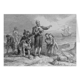 Landing of the Pilgrims 1620 Greeting Cards