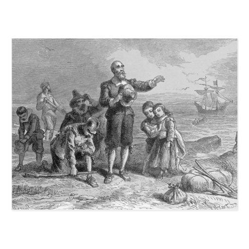 Landing of the Pilgrims, 1620 Postcard