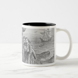 Landing of the Pilgrims, 1620 Two-Tone Coffee Mug