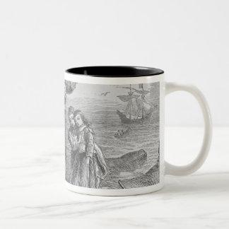 Landing of the Pilgrims, 1620 Two-Tone Mug