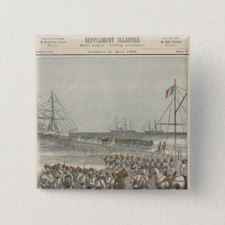 Landing of the Senegalese Troops at the New Wharf 15 Cm Square Badge