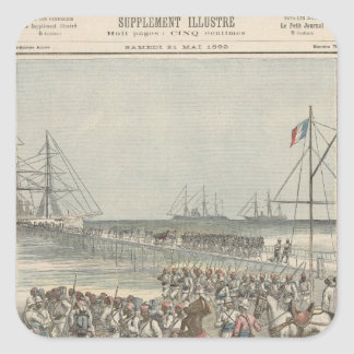 Landing of the Senegalese Troops at the New Wharf Square Sticker
