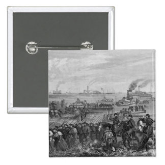 Landing of troops on Roanoke Island 15 Cm Square Badge