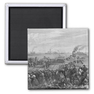 Landing of troops on Roanoke Island Refrigerator Magnet