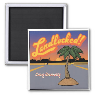 """Landlocked!"" Single Cover Magnet"