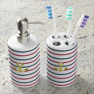 landlord nautical soap dispenser and toothbrush holder