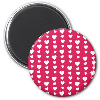 Landlord white Hearts of the day of San Valentin 6 Cm Round Magnet