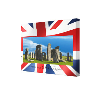 Landmark image of England wrapped-canvas Canvas Print