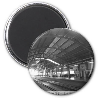 Landmark Landscapes AWESOME DELHI METRO Railway 6 Cm Round Magnet