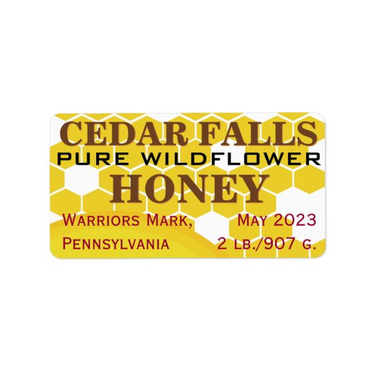 Landmark Pure Wildflower Honey Jar Label
