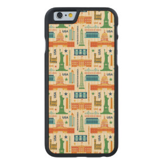 Landmarks of United States of America Carved Maple iPhone 6 Case