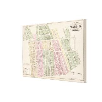 Landowners, store building maps canvas print